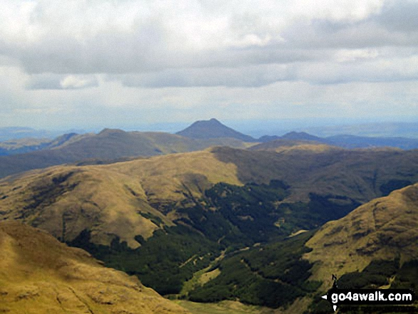 Ben Ledi from the summit of Cruach Ardrain