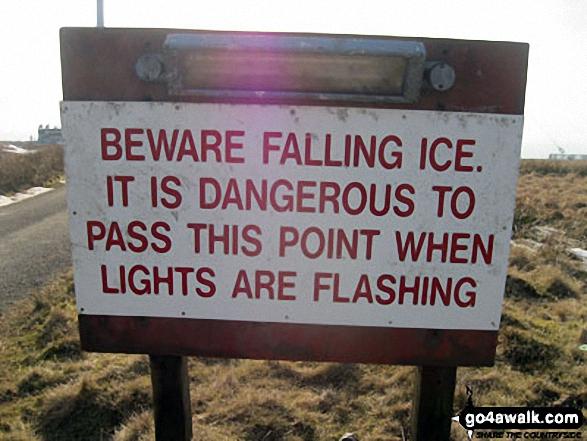 Warning sign on Winter Hill (Rivington Moor)