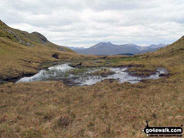 Lochan at the highest point of Creagan Liatha
