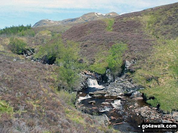 Allt Riobain with Meall Glas (Glen Lochay) and Beinn Cheathaich in the distance