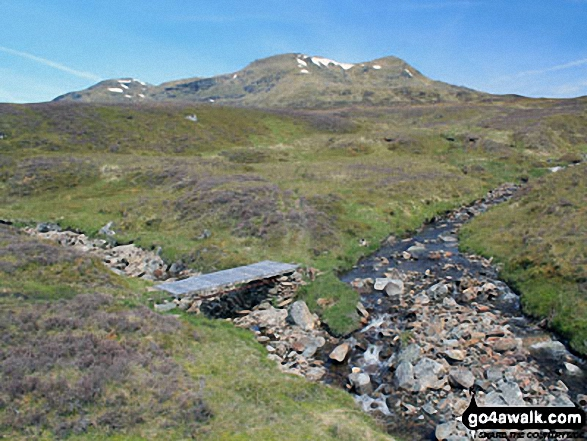 Allt Riobain with Meall Glas (Glen Lochay) and Beinn Cheathaich on the horizon