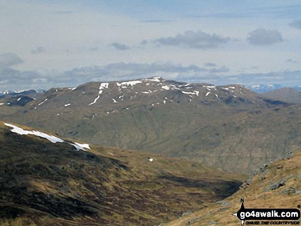 Beinn Sheasgarnaich from the summit of Sgiath Chuil