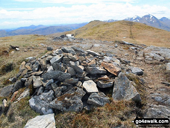 Meall a' Churain summit cairn