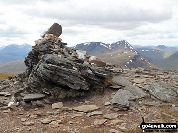 Meall Glas (Glen Lochay) summit with Ben Challum in the background