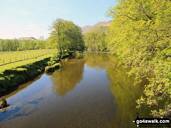 The River Falloch - looking south from Beinglas Campsite Bridge