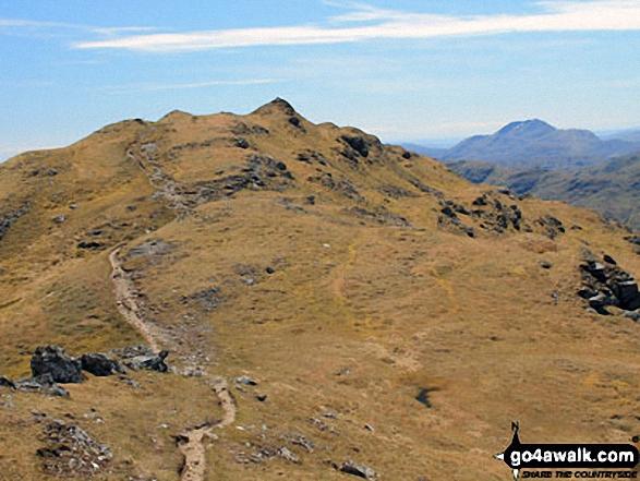Approaching the summit of Beinn Chabhair