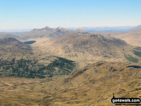 Meall an Fhudair (mid distance right) and Ben Bhuidhe on the horizon from Beinn Chabhair