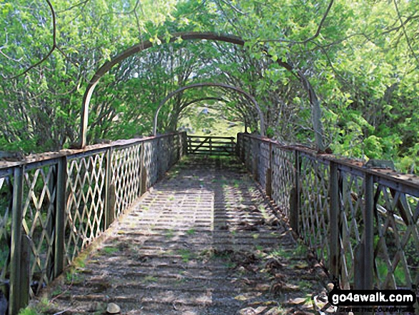 Footbridge over the railway above Kirkton Farm near Crainlarich