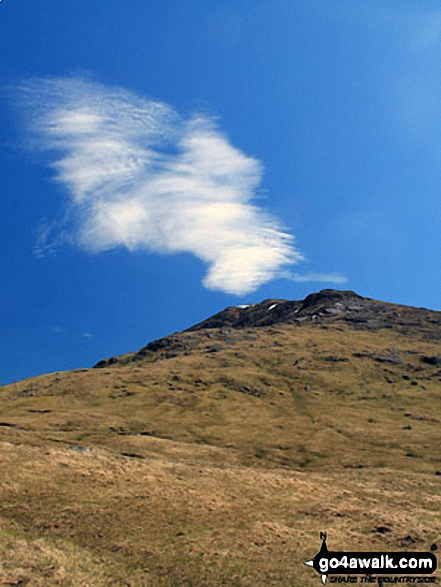 Cloud formation making Beinn Challum look like its erupting from the slopes towards Gleann a' Chlachain