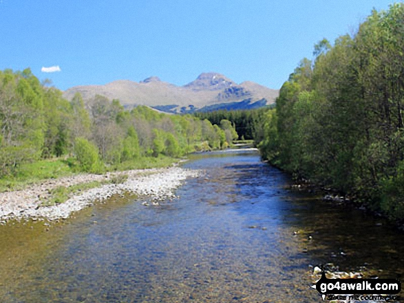 River Fallan near Kirkton Farm near Crainlarich with Cruach Adrain