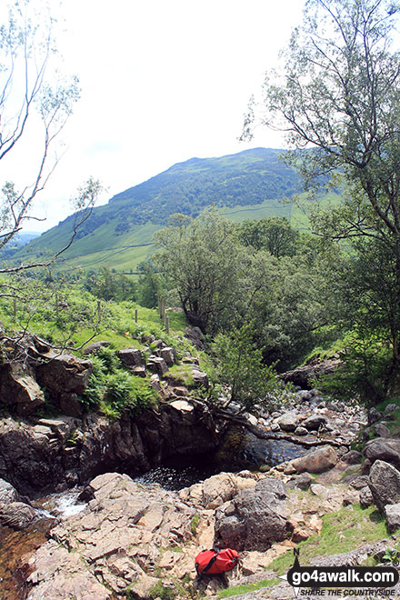 Walk c225 The Langdale Pikes via Jack's Rake from The New Dungeon Ghyll, Great Langdale - Stickle Ghyll