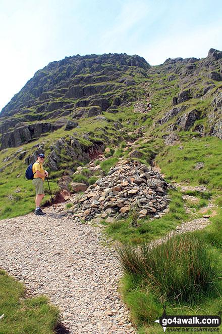 Brett climbing Pavey Ark