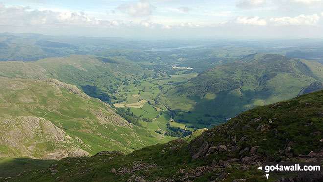 Great Langdale from Pavey Ark summit