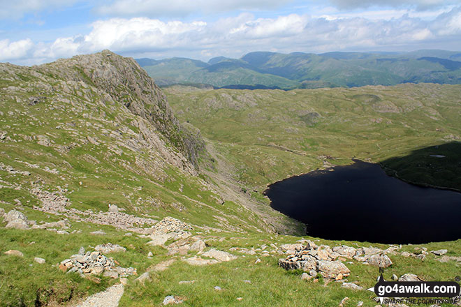 Pavey Ark and Stickle Tarn from Harrison Stickle