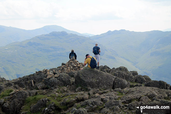 On the summit of Harrison Stickle
