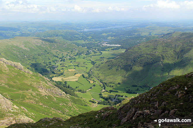 Great Langdale from the summit of Harrison Stickle