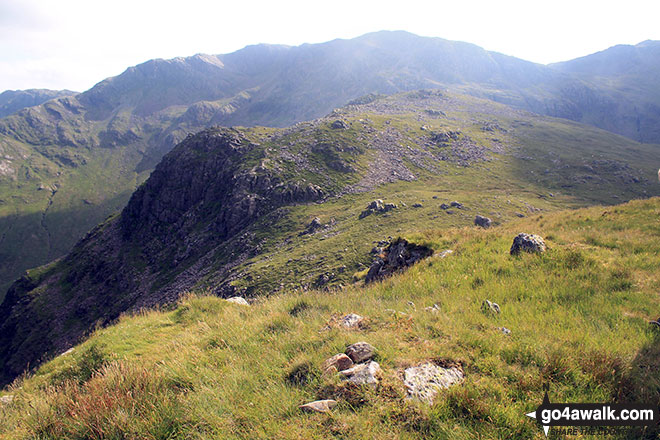 Rosset Pike from Black Crags (Langdale) summit cairn