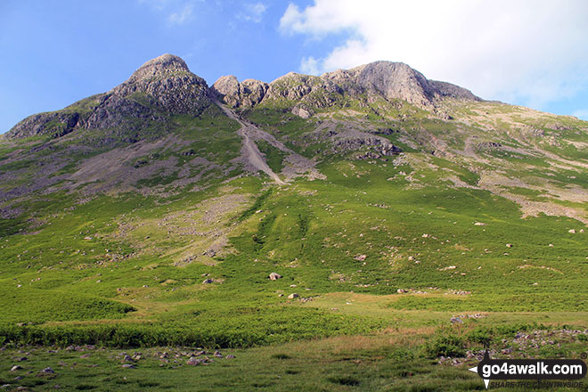 Pike of Stickle (Pike o' Stickle) and Harrison Stickle from Mickleden
