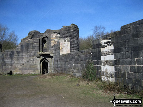 The Castle (Lower Rivington Reservoir). Walk route map l110 Rivington Pike from Great House Information Centre, Rivington Lane photo