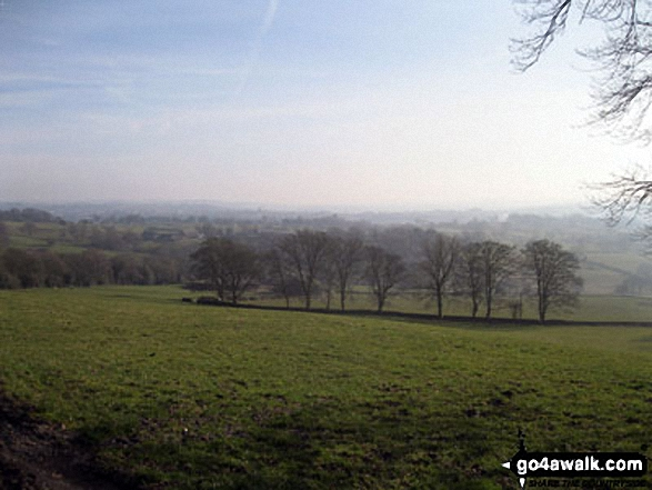 The Staffordshire countryside from near Gun (Staffordshire)