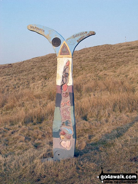 Waypoint marker for the c2c (coast to coast) cycle route near Hartside Top Cafe