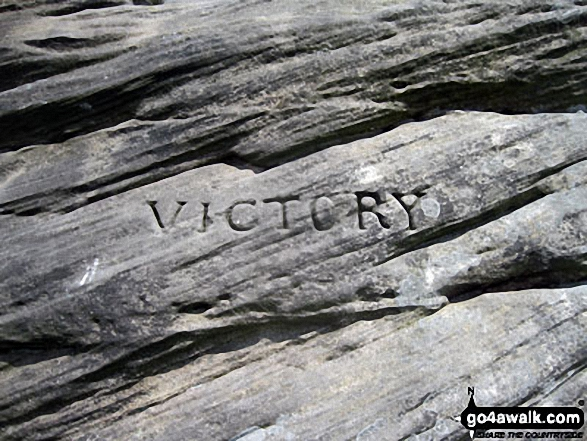 Victory -  the first of three huge boulders that form The Three Ships on Birchen Edge