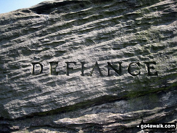 Defiance - the middle of three huge boulders that form The Three Ships on Birchen Edge