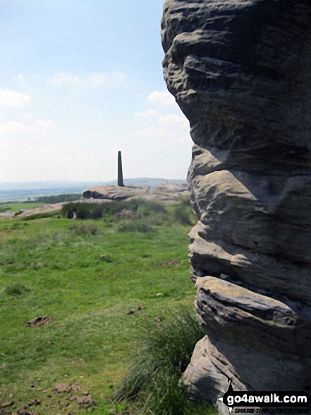 Nelson's Monument (Birchen Edge) from The Three Ships on Birchen Edge