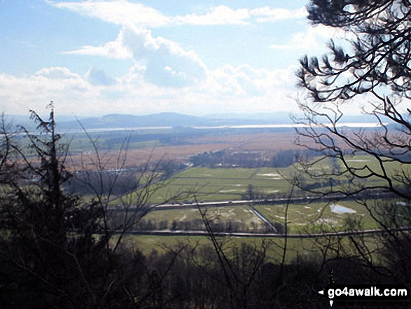 Looking South across Foulshaw Moss to Milnthorpe Sands,  Arnside Knott and The forest of Bowland from Mill Side