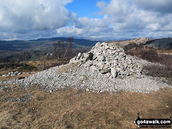 One of several large cairns on the Whitbarrow Scar ridge