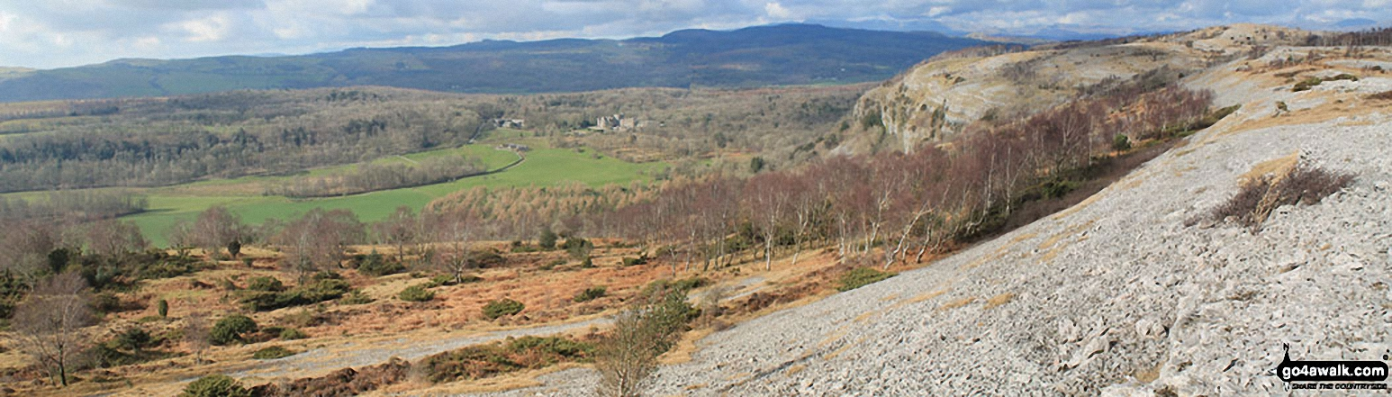 Witherslack Hall School, Whitbarrow Scar and Lord's Seat (Whitbarrow Scar) (in distance, far right)