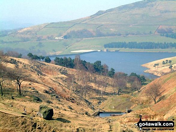 Dovestones Reservoir from Hoarstone Edge