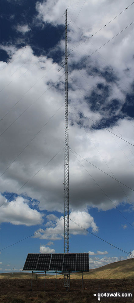 The huge telecommunications mast on the top of Keoch Rig