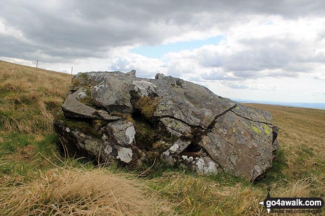 Walk dg108 Moorbrock Hill and Windy Standard from Craigengillan - Deil's Putting Stone