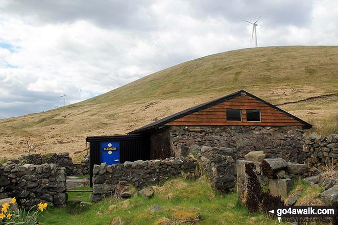 Walk dg108 Moorbrock Hill and Windy Standard from Craigengillan - Clennoch Bothy with Dugland beyond