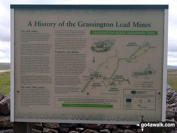 Information Board detailing the history of the Grassington Lead Mines at Yarnbury