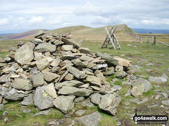 Walk po117 Cadair Berwyn and Post Gwyn from Pistyll Rhaeadr - Moel Sych summit cairn