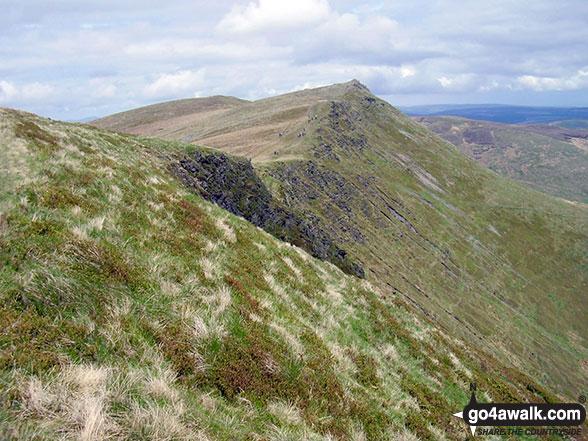 Cadair Berwyn (North Top) & Cadair Berwyn from Moel Sych