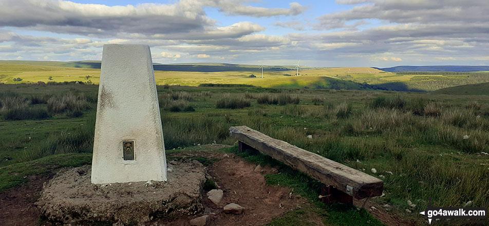 Mynydd Bedwellte summit trig point