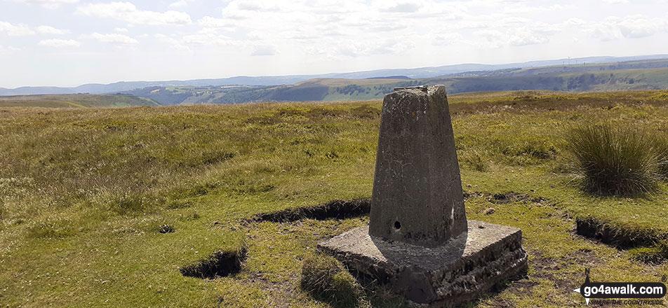 Mynydd Carn-y-Cefn summit trig point