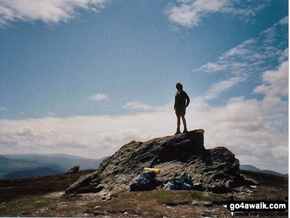 Muiris O'Raghallaigh on Djouce in The Wicklow Mountains Wicklow Ireland