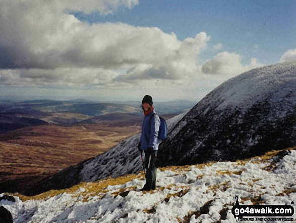 Sharon Weadick on Toin Le Gaoth in The Wicklow Moutains County Wicklow Ireland