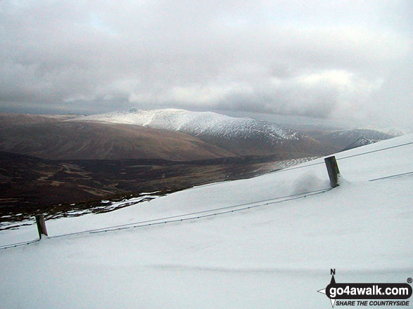 Deep snow on a very cold and snowy Skiddaw