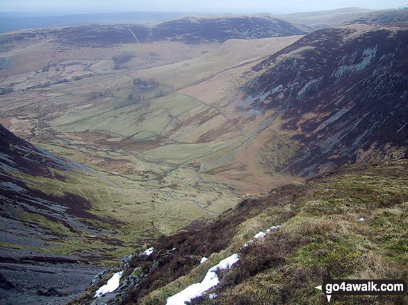 Dash Beck and Black Nettle Hause from Birkett Edge