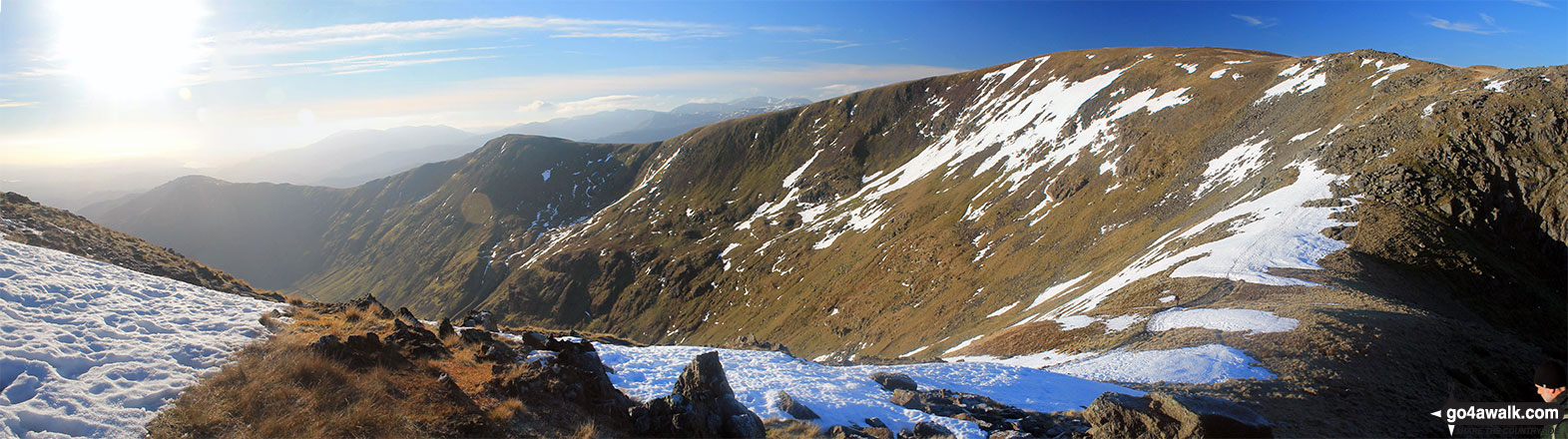Heron Pike, Heron Pike (North Top), Great Rigg, Rydal Head and Fairfield from Hart Crag