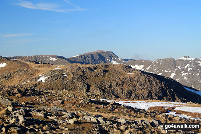 Helvellyn (centre) from Hart Crag