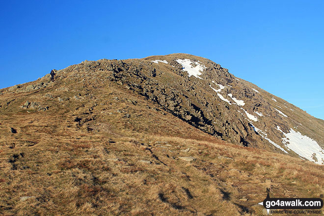 Walk c216 Great Rigg and Heron Pike from Grasmere - Great Rigg from Rydal Fell on The Fairfield Horeshoe