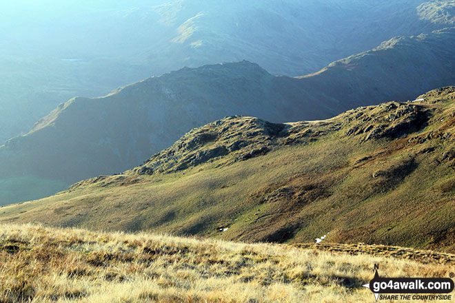 Walk c216 Great Rigg and Heron Pike from Grasmere - Stone Arthur from Rydal Fell on The Fairfield Horeshoe