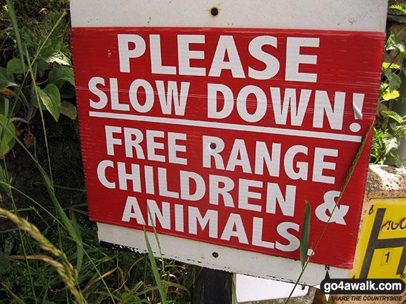 Sign outside the Swinside Inn near Portinscale