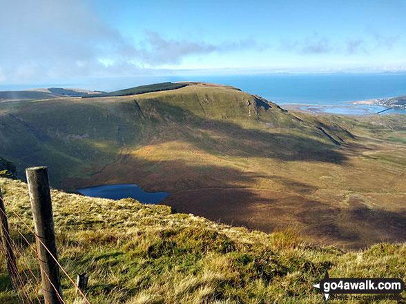 Braich Ddu (Craig Cwm-llwd) from the summit of Craig-y-llyn
